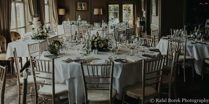 Wedding Set Up in the Restaurant