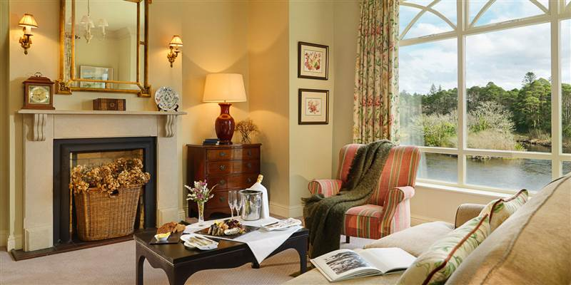 Our riverside suites have a spacious lounge to provide that sense of luxury with a spectacular view