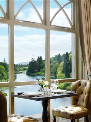 River View from Ballynahinch Restaurant