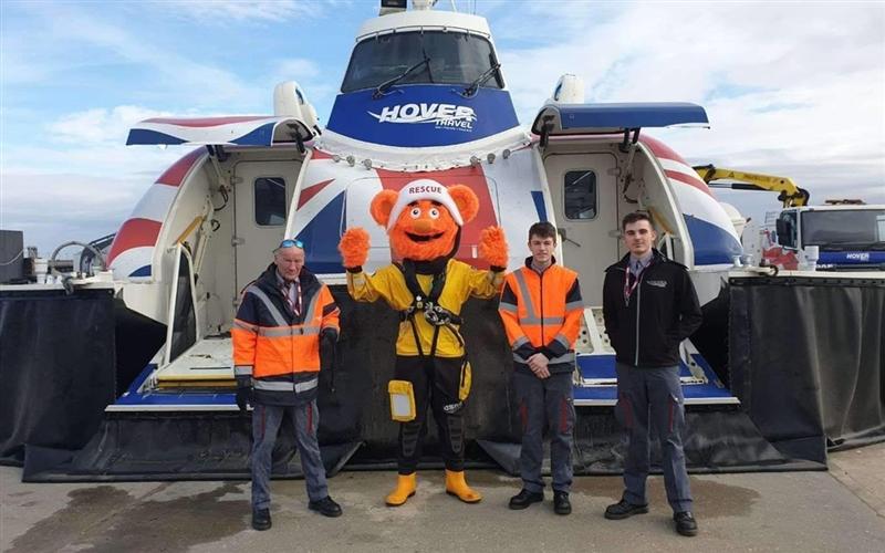 Go Orange Day at Hovertravel 2019