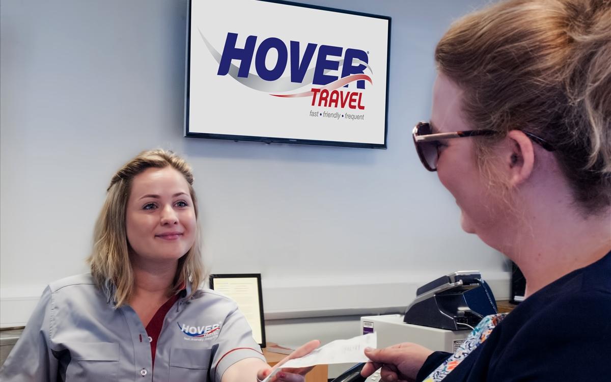 Hover Travel - Customer at Reception