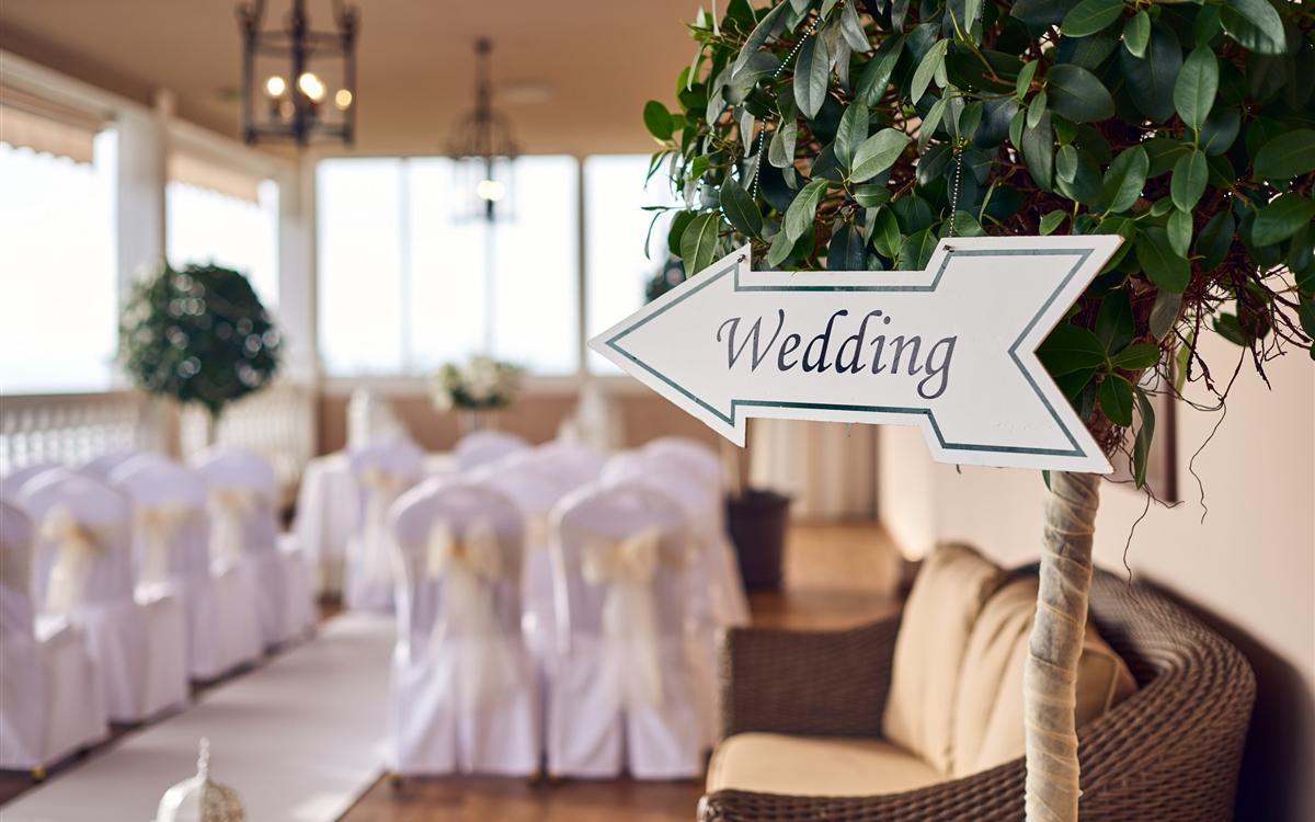 Rock Hotel Wedding Sign