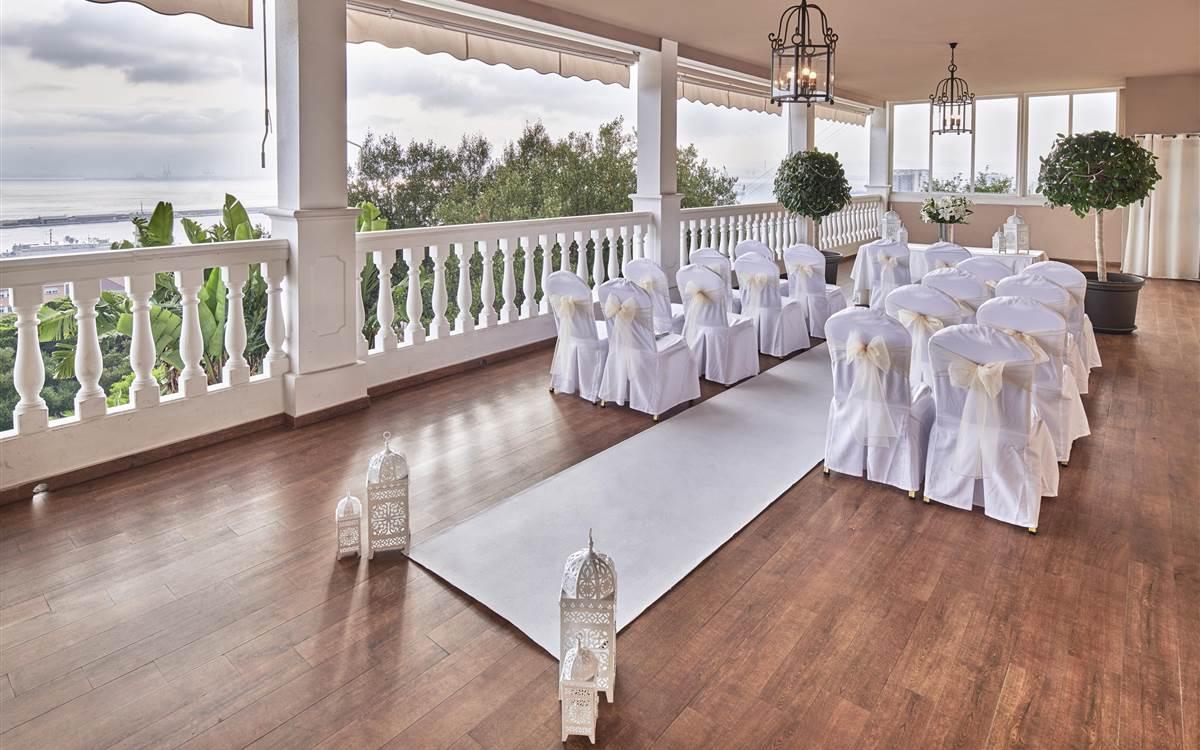 Rock Hotel Wedding Setup