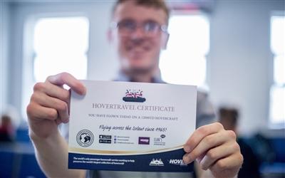 Hovertravel certificate 01