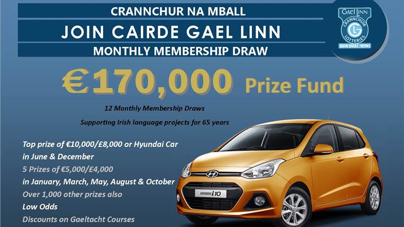 Cairde Gael Linn - April 2019 Draw Results