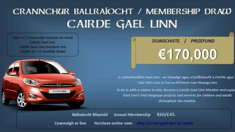 Cairde Gael Linn - Support us and win some prizes!