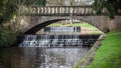 River Skell with footbridge