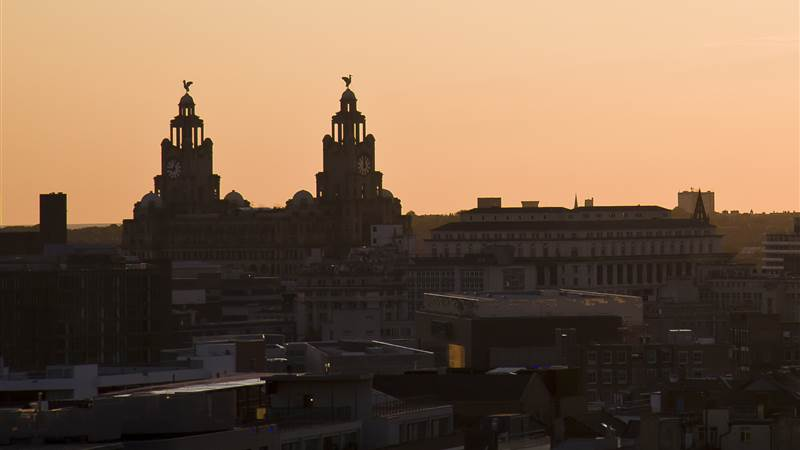 Views of Liverpool from Hope Street