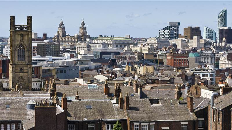 Views of Liverpool at day from Hope Street hotel