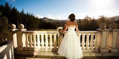 Bride overlooking Sugar Loaf