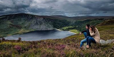 Couple overlooking Lough Tay