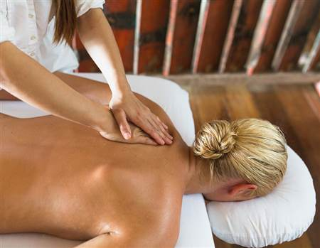 Spa back massage